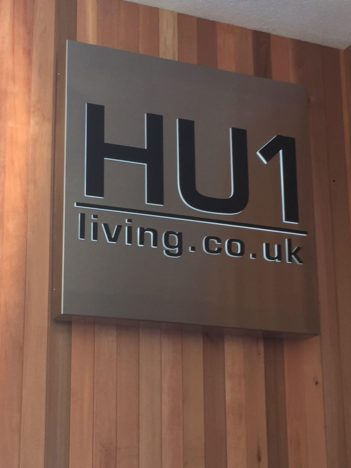 HU1 Living - Stainless Steel Office Sign